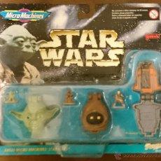 Figuras y Muñecos Star Wars: STAR WARS MICROMACHINES HEADS, YODA, JAWA, LEIA BODYHUNTER. Lote 52896640