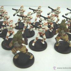 Figuras y Muñecos Star Wars: LOTE 13 MINIATURA STAR WARS OFICIAL - PROMO REPUBLIC 9 CLONE TROPPER-FRINGE 8 NAUTOLAN SOLDIER-2005. Lote 53225099