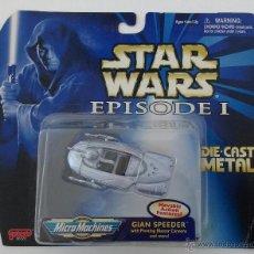 Figuras y Muñecos Star Wars: STAR WARS EPISODE I: GIAN SPEEDER - MICROMACHINES DIE-CAST METAL (GALOOB,1999). Lote 53448424