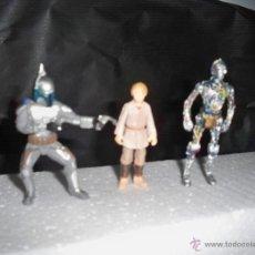 Figuras y Muñecos Star Wars: FIGURAS STAR WARS NIÑO ANAKIN SKYWALKER C3 PO ARTICULADAS C3PO VISTA CABLES JANGO GUERRA GALAXIAS. Lote 221256958