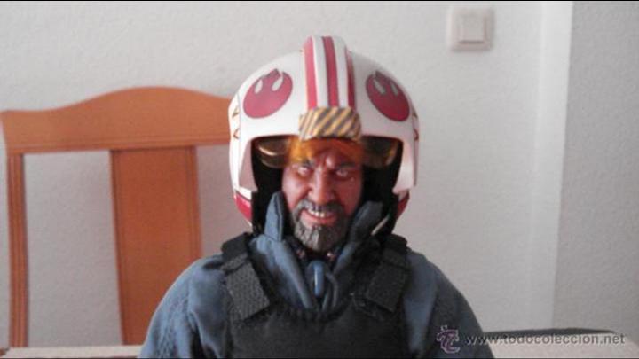 Figuras y Muñecos Star Wars: STAR WARS. Custom de piloto Rebelde. Figura articulada de escala 1/6. Articulaciones duras. - Foto 3 - 53838832