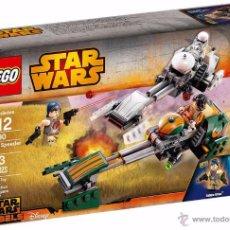 Figuras y Muñecos Star Wars: LEGO STAR WARS EZRA'S SPEEDER BIKE . Lote 53876808