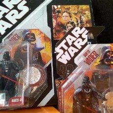 Figuras y Muñecos Star Wars: STAR WARS 30TH ANNIVERSARY TAC#01 DARTH VADER CON ALBUM PARA MONEDAS. Lote 54001009