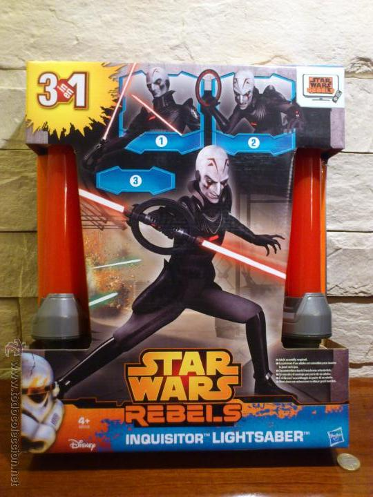 Figuras y Muñecos Star Wars: STAR WARS - SUPER SABLE LASER - REBELS - INQUISIDOR INQUISITOR - 91 CM TOTAL - HASBRO - NUEVO - Foto 2 - 54041894