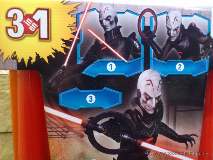 Figuras y Muñecos Star Wars: STAR WARS - SUPER SABLE LASER - REBELS - INQUISIDOR INQUISITOR - 91 CM TOTAL - HASBRO - NUEVO - Foto 3 - 54041894