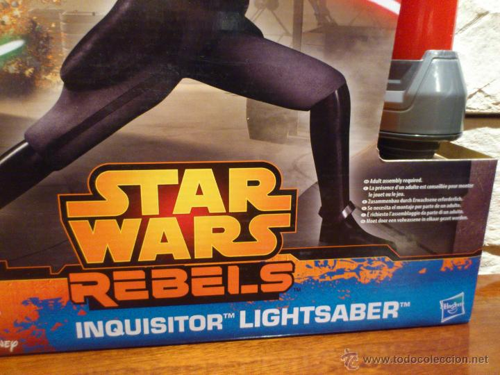 Figuras y Muñecos Star Wars: STAR WARS - SUPER SABLE LASER - REBELS - INQUISIDOR INQUISITOR - 91 CM TOTAL - HASBRO - NUEVO - Foto 9 - 54041894