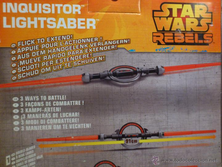 Figuras y Muñecos Star Wars: STAR WARS - SUPER SABLE LASER - REBELS - INQUISIDOR INQUISITOR - 91 CM TOTAL - HASBRO - NUEVO - Foto 14 - 54041894