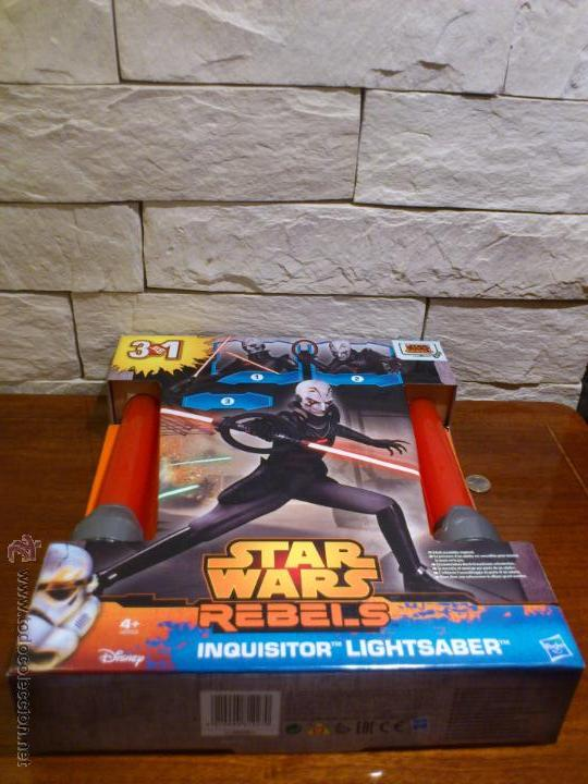 Figuras y Muñecos Star Wars: STAR WARS - SUPER SABLE LASER - REBELS - INQUISIDOR INQUISITOR - 91 CM TOTAL - HASBRO - NUEVO - Foto 19 - 54041894