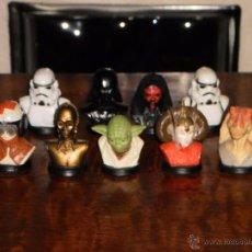 Figuras y Muñecos Star Wars: CONJUNTO 9 BUSTOS STAR WARS, FABRICADOS EN 1999. PERFECTO ESTADO.. Lote 54046562