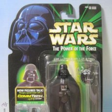 Figuras y Muñecos Star Wars: STAR WARS FIGURA DARTH VADER THE POWER OF THE FORCE EN BLISTER Y CON PROTECTOR PVC KENNER 1999. Lote 54155766