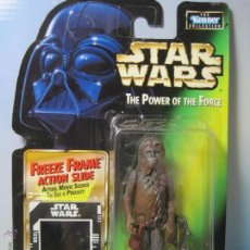 Figuras y Muñecos Star Wars: STAR WARS FIGURA CHEWBACCA-PRISIONERO- EN BLISTER COLECCION THE POWER OF THE FORCE KENNER 1998. Lote 54160228