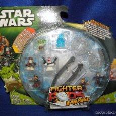 Figuras y Muñecos Star Wars: STAR WARS GEONOSIS ARENA FIGHTER PODS RAMPAGE BATTLE GAME DE HASBRO. Lote 55142121