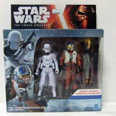 Figuras y Muñecos Star Wars: PACK FIGURA SNOWTROOPER OFFICER + SNAP WEXLEY X-WING PILOT STAR WARS THE FORCE AWAKENS DISNEY HASBRO. Lote 56213473