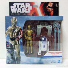 Figuras y Muñecos Star Wars: PACK R2-D2 + C-3PO STAR WARS THE FORCE AWAKENS R2D2 C3PO EL DESPERTAR DE LA FUERZA HASBRO 3,75. Lote 288194288