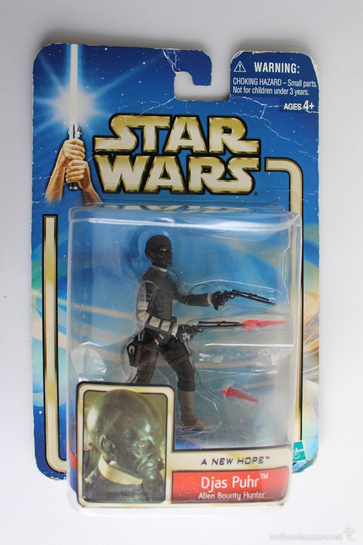 DJAS PUHR. ALIEN BOUNTY HUNTER. FIGURA STAR WARS IV. HASBRO BLISTER NUEVO. 2002. . (Juguetes - Figuras de Acción - Star Wars)