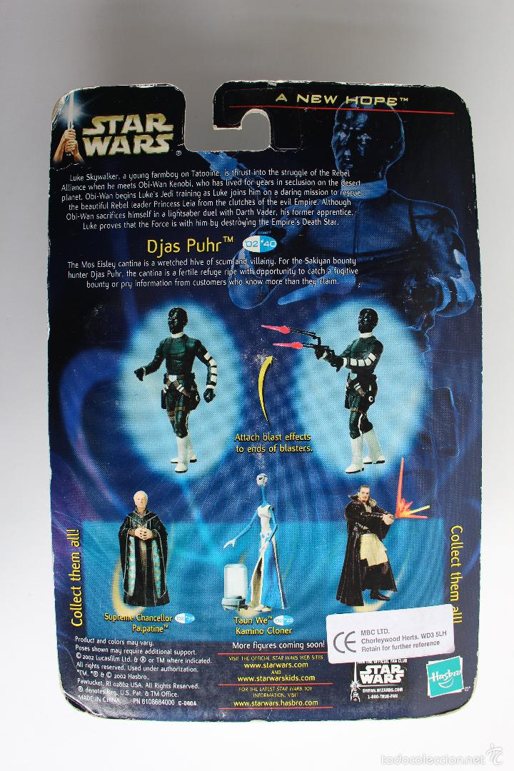 Figuras y Muñecos Star Wars: DJAS PUHR. ALIEN BOUNTY HUNTER. FIGURA STAR WARS IV. HASBRO BLISTER NUEVO. 2002. . - Foto 2 - 56855845