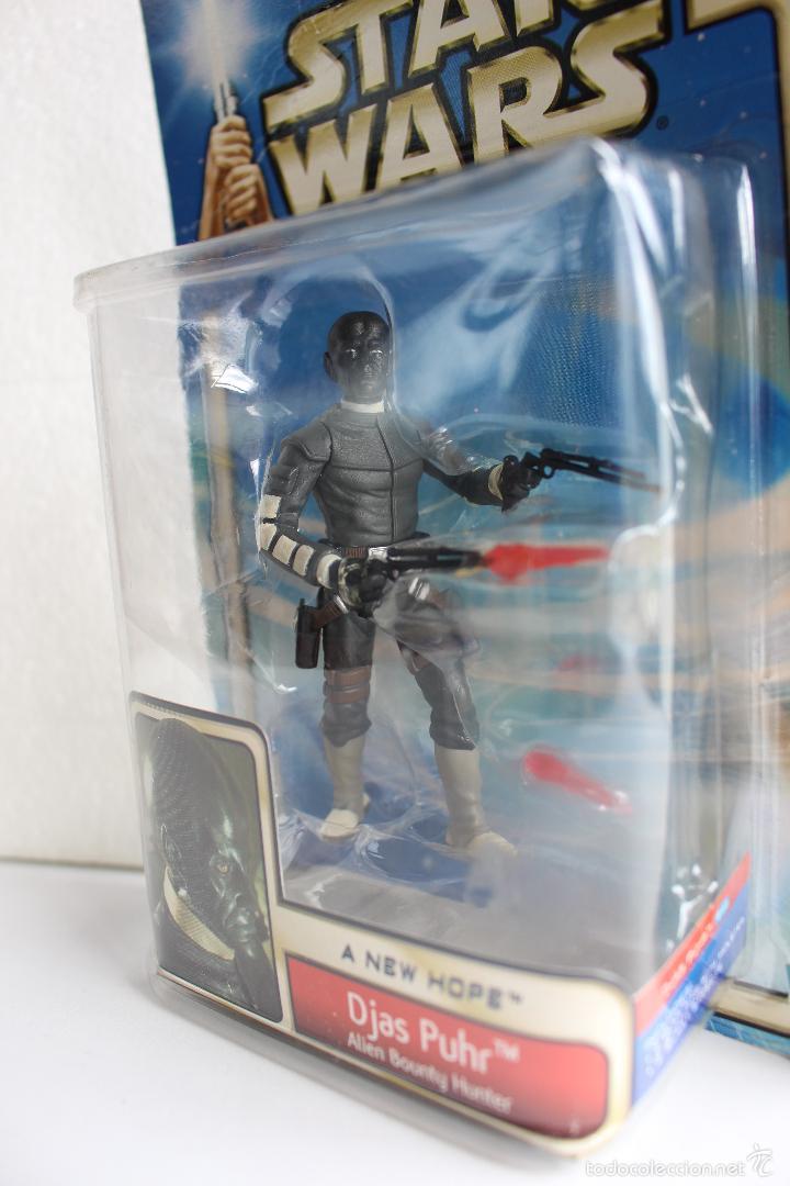 Figuras y Muñecos Star Wars: DJAS PUHR. ALIEN BOUNTY HUNTER. FIGURA STAR WARS IV. HASBRO BLISTER NUEVO. 2002. . - Foto 3 - 56855845