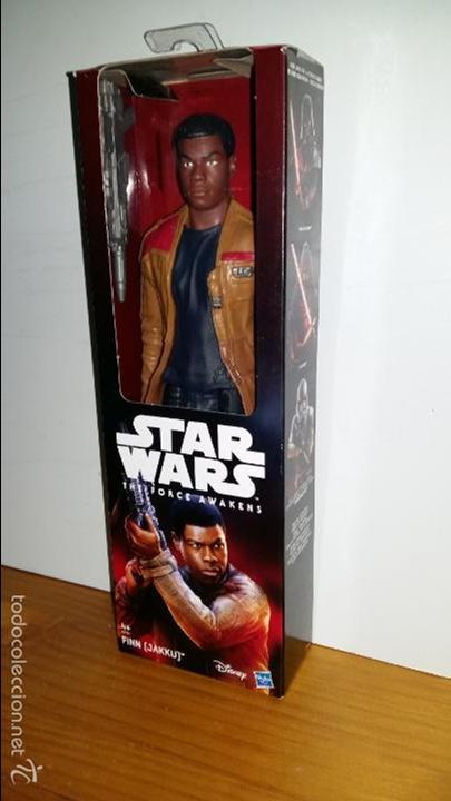 STAR WARS THE FORCE AWAKENS, FINN (JAKKU) DISNEY, HASBRO 30 CMS. 12''. (Juguetes - Figuras de Acción - Star Wars)