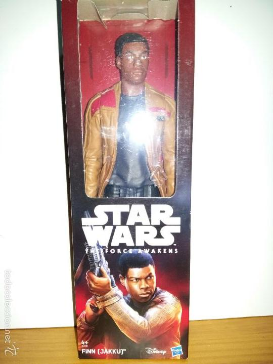 Figuras y Muñecos Star Wars: STAR WARS THE FORCE AWAKENS, FINN (JAKKU) DISNEY, HASBRO 30 cms. 12. - Foto 2 - 57025951