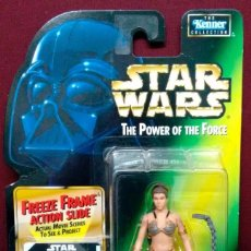 Figuras y Muñecos Star Wars: STAR WARS THE POWER OF THE FORCE - PRINCESS LEIA ORGANA AS JABBA´S PRISONER - KENNER. Lote 57829816