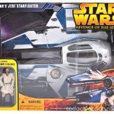 Figuras y Muñecos Star Wars: STAR WARS REVENGE OF THE SITH - OBI-WAN´S JEDI STARFIGHTER - HASBRO. Lote 57868614