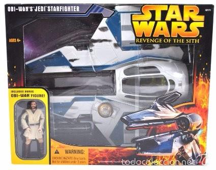 STAR WARS REVENGE OF THE SITH - OBI-WAN´S JEDI STARFIGHTER - HASBRO (Juguetes - Figuras de Acción - Star Wars)