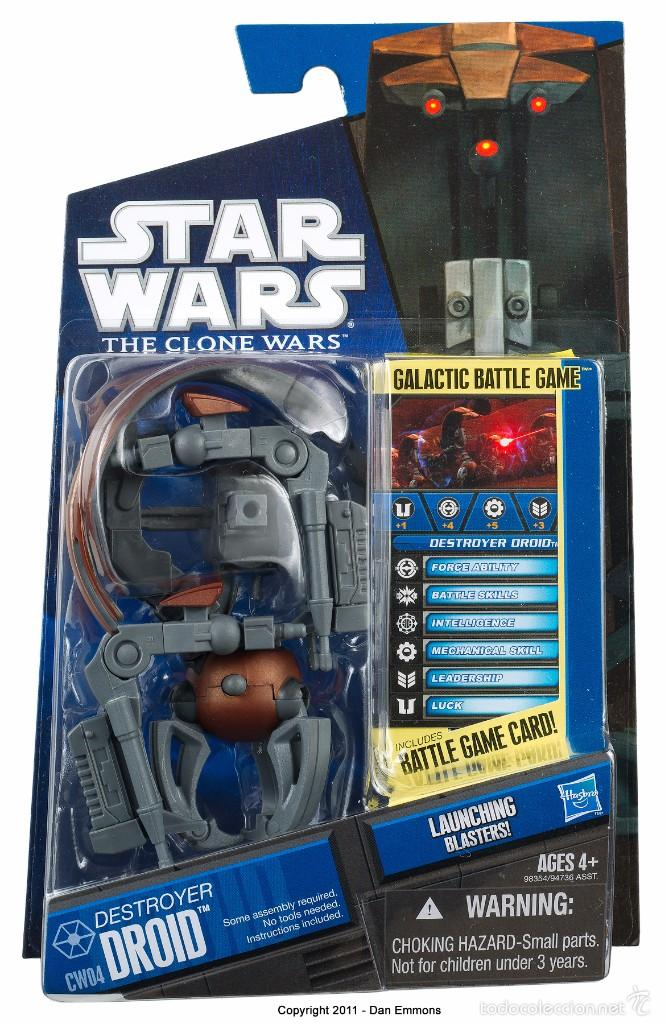STAR WARS THE CLONE WARS - DESTROYER DROID - HASBRO (Juguetes - Figuras de Acción - Star Wars)