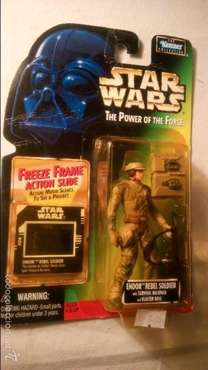 STAR WARS EP VI ENDOR REBEL SOLDIER THE POWER OF THE FORCE ( KENNER) HASBRO. RJM (Juguetes - Figuras de Acción - Star Wars)