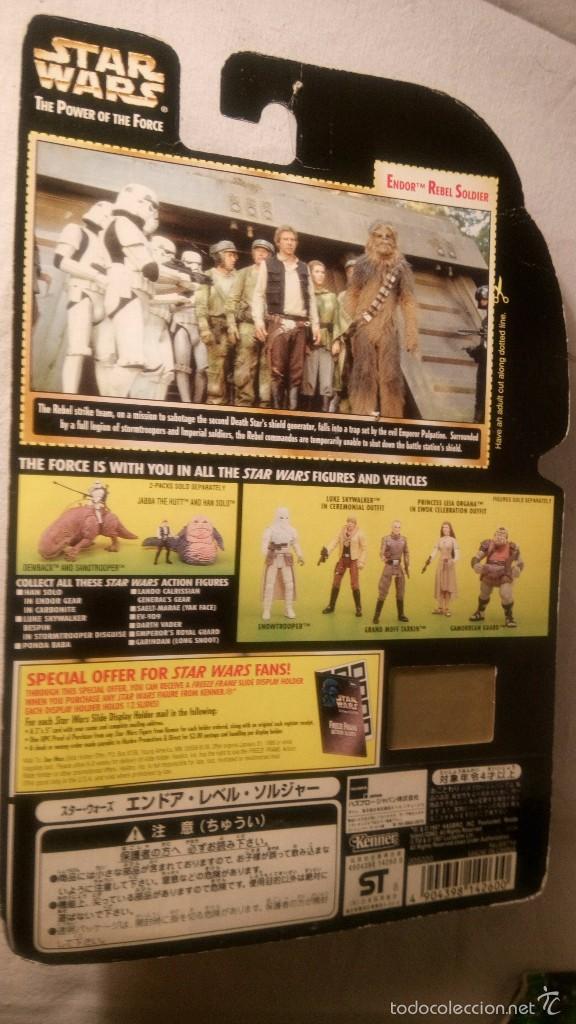 Figuras y Muñecos Star Wars: STAR WARS EP VI ENDOR REBEL SOLDIER THE POWER OF THE FORCE ( KENNER) HASBRO. RJM - Foto 3 - 58585932