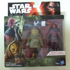 Figuras y Muñecos Star Wars: PACK FIGURA SIDON ITHANO + FIRST MATE QUIGGOLD - STAR WARS THE FORCE AWAKENS DISNEY HASBRO. Lote 60729515