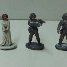 Figuras y Muñecos Star Wars: LOTE DE 5 FIGURAS STAR WARS DE PLOMO MIDEN UNOS 3 CM . AÑO 1987.. Lote 60802175