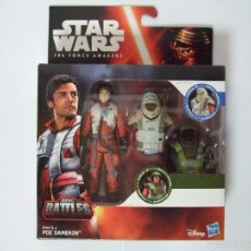 Figuras y Muñecos Star Wars: PACK FIGURA POE DAMERON EPIC BATTLE ARMOR UP - STAR WARS THE FORCE AWAKENS DISNEY HASBRO. Lote 61087191