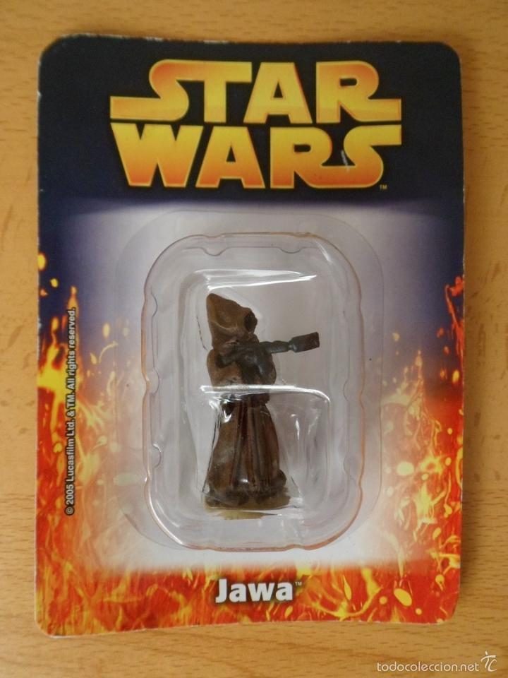 STAR WARS. FIGURA DE METAL JAWA. SAGA, LA GUERRA DE LAS GALAXIAS. . (Juguetes - Figuras de Acción - Star Wars)