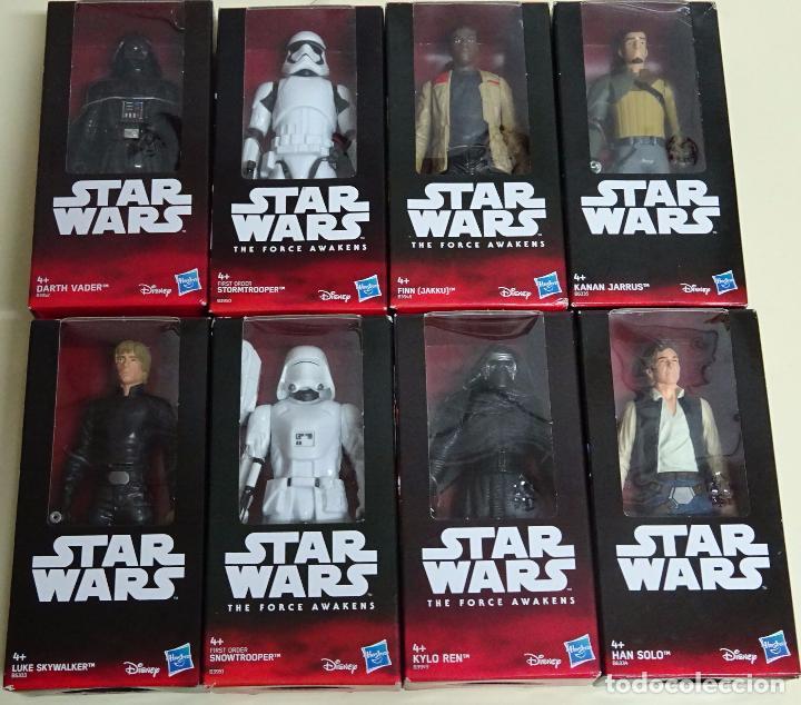 Coleccion Completa 8 Figuras Star Wars Nueva Era Hasbro Disney Han Solo Darth Vader 600 Gr