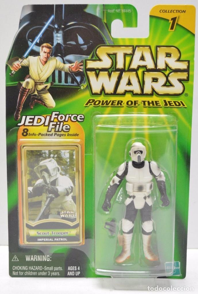STAR WARS POWER OF THE JEDI - SCOUT TROOPER - HASBRO (Juguetes - Figuras de Acción - Star Wars)