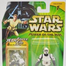 Figuras y Muñecos Star Wars: STAR WARS POWER OF THE JEDI - SCOUT TROOPER - HASBRO. Lote 61811540