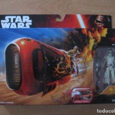 Figuras y Muñecos Star Wars: STAR WARS DESPERTAR DE LA FUERZA FORCE AWAKENS REY SPEEDER JAKKU - PRECINTADO. Lote 61898328