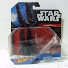 Figuras y Muñecos Star Wars: KYLO REN COMMAND SHUTTLE- HOT WHEELS STAR WARS MATTEL - THE FORCE AWAKENS - NAVE JUGUETE. Lote 64972819