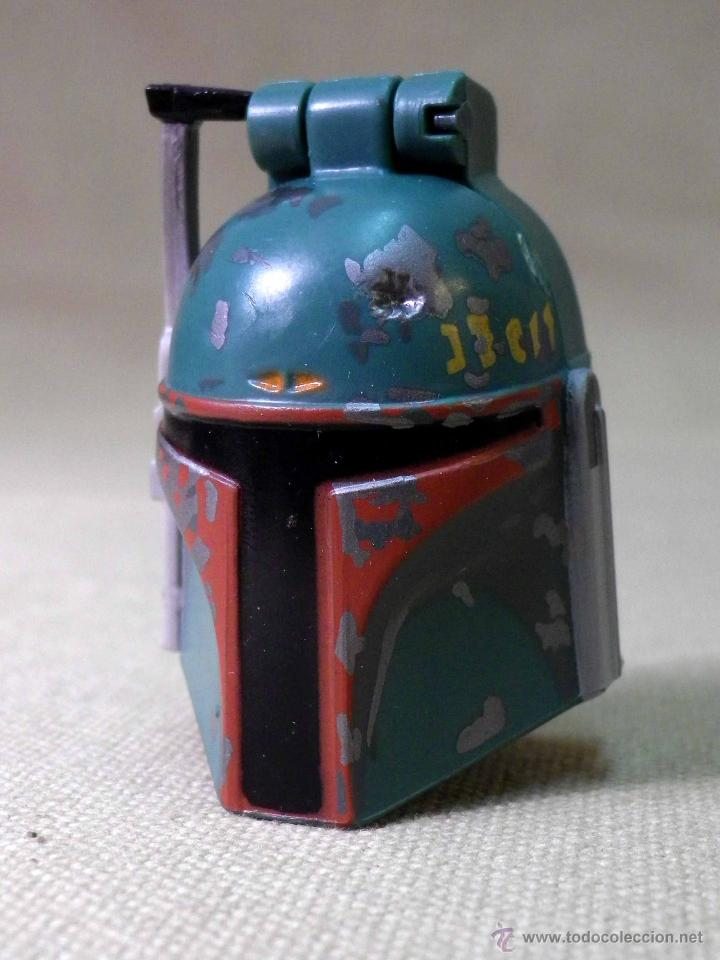 RARO MASCARA CON PERSONAJE EN EL INTERIOR, STAR WARS, 1996, MICRO MACHINES (Juguetes - Figuras de Acción - Star Wars)