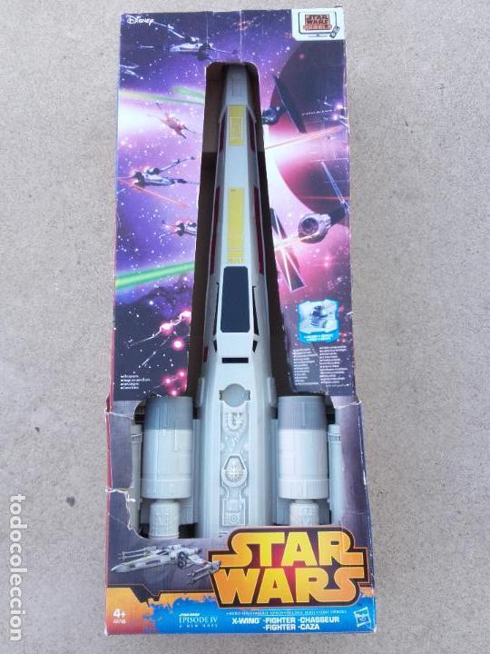 NAVE ESPACIAL STARS WARS. CAZA ESTELAR T-65 ALA-X. NUEVO. 73 CM. INCLUYE MUÑECO R2 D2. (Juguetes - Figuras de Acción - Star Wars)