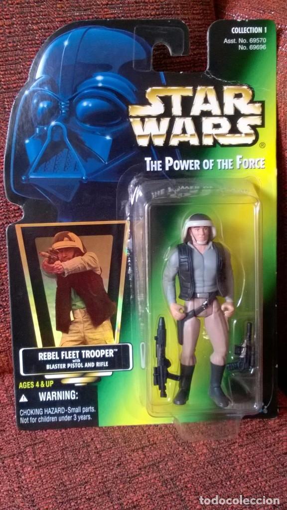 STAR WARS POTF REBEL FLEET TROOPER (Juguetes - Figuras de Acción - Star Wars)
