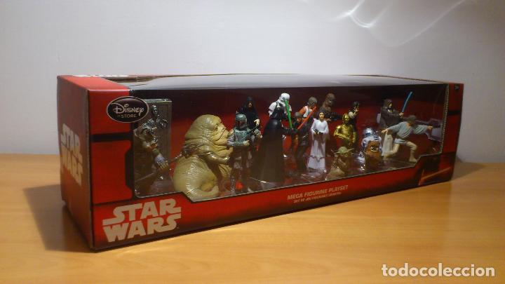 Figuras y Muñecos Star Wars: STAR WARS - MEGA FIGURINE - PLAYSET - 20 FIGURAS - EPISODIOS CLASICOS - DESCATALOGADO - NUEVO - Foto 2 - 116146284