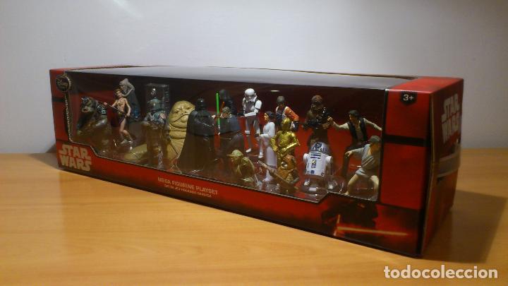 Figuras y Muñecos Star Wars: STAR WARS - MEGA FIGURINE - PLAYSET - 20 FIGURAS - EPISODIOS CLASICOS - DESCATALOGADO - NUEVO - Foto 3 - 116146284