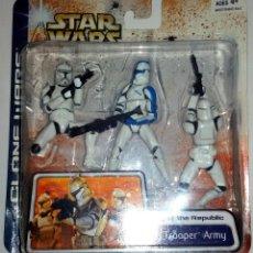 Figuras y Muñecos Star Wars: STAR WARS # CLONE TROOPER ARMY # FIGURAS DE 11 CM APROX - CLONE WARS - NUEVOS EN BLISTER DE HASBRO.. Lote 70495141