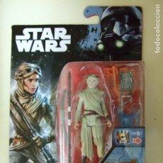 Figuras y Muñecos Star Wars: FIGURA REY ( JAKKU ) - STAR WARS BLÍSTER TIPO ROGUE ONE - DISNEY HASBRO LA GUERRA DE LAS GALAXIAS. Lote 71182097