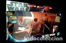 STAR WARS SITH SPEEDER + DARTH MAUL (Juguetes - Figuras de Acción - Star Wars)