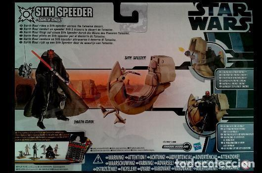 Figuras y Muñecos Star Wars: Star wars sith speeder + darth maul - Foto 2 - 71676387
