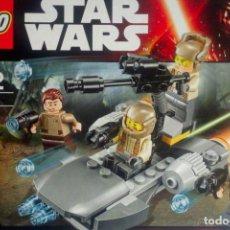 Figuras y Muñecos Star Wars: DETALLES DE LEGO STAR WARS 75131 RESISTENCE TROOPER BATTLE NEW FACTORY 4 FIGURES INCLUDED. Lote 74158231