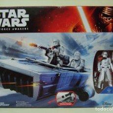 Figuras y Muñecos Star Wars: VEHÍCULO SNOWSPEEDER CON FIGURA SNOWTROOPER OFFICER - STAR WARS THE FORCE AWAKENS HASBRO DISNEY. Lote 74253919