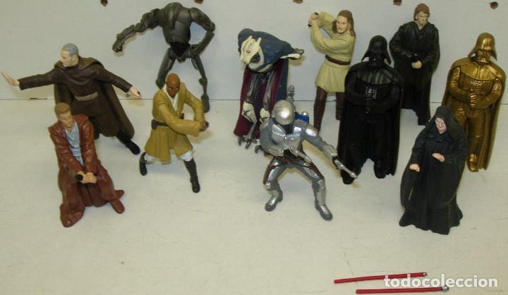 LOTE 11 FIGURAS PVC , LLAVEROS STAR WARS (Juguetes - Figuras de Acción - Star Wars)